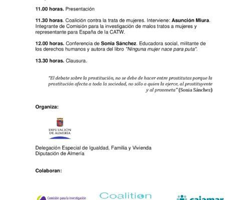 Jornada Almeria: Las mujeres ¿Objetos de comercio?