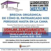 Charla vetada por el Ayuntamiento de Navarra