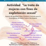 Cartel La trata de mujeres con fines de explotación sexual