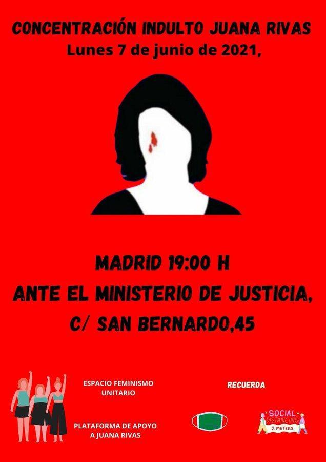 Cartel Manifestación Juana Rivas
