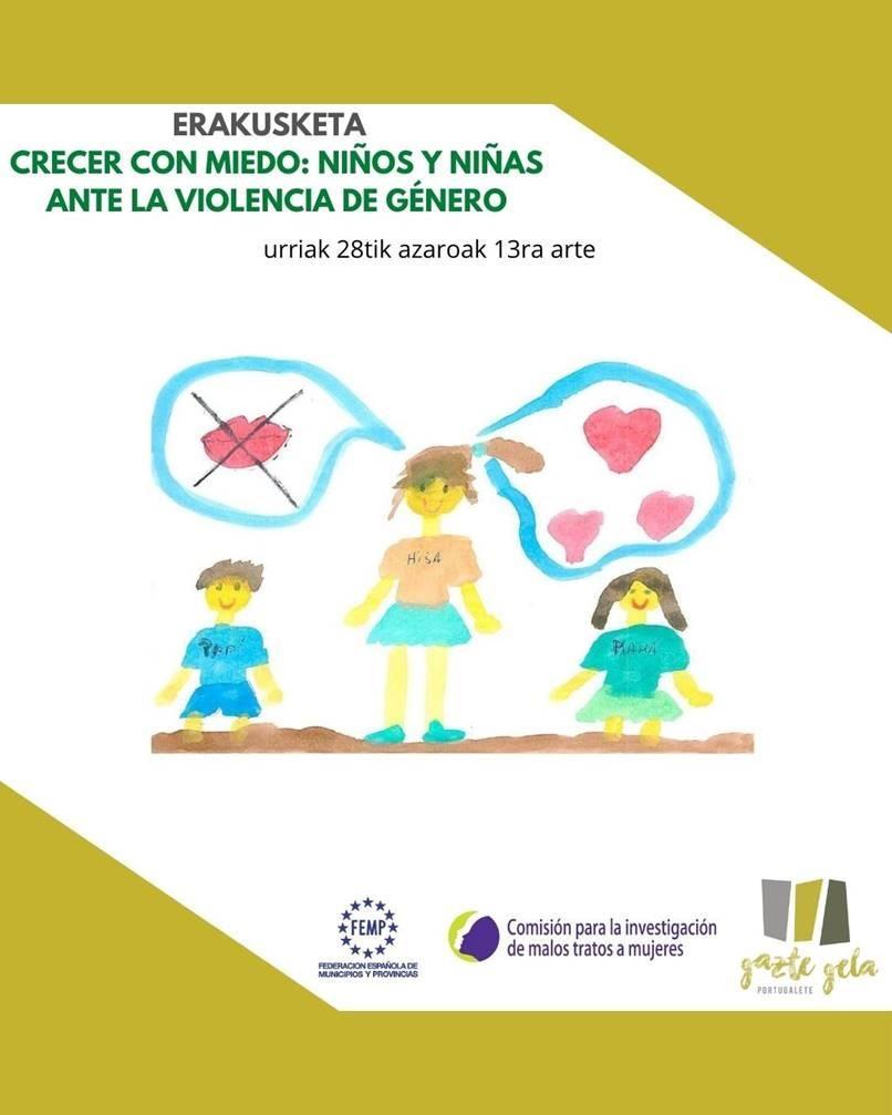 Cartel exposición Crecer con Miedo en Portugalete